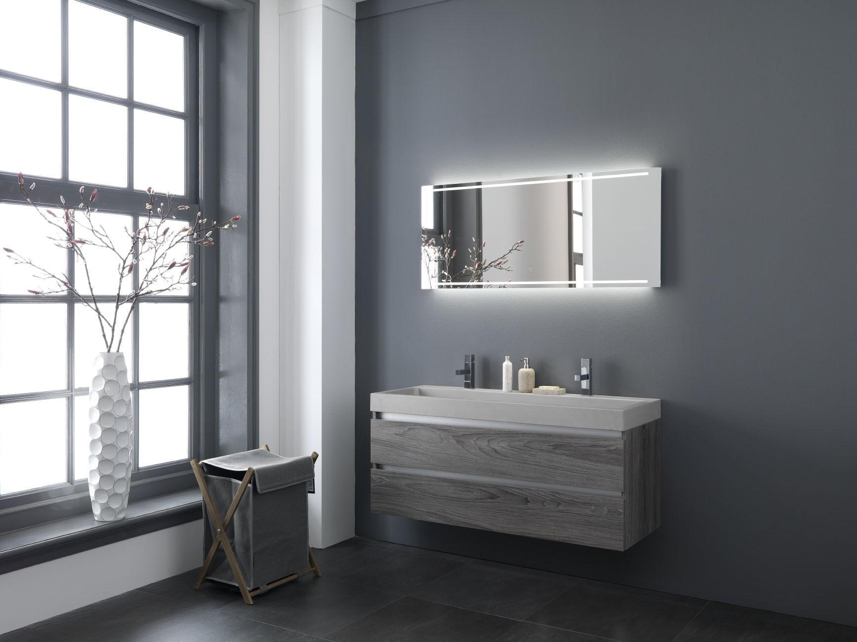 Wastafel Van Beton : Wastafel hout wastafel beton met meubel in eiken hout en