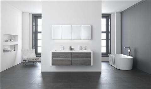 Badkamermeubel Met Kommen : Badkamermeubel sense met glazen wastafel