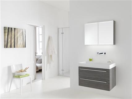 Badkamer Spiegelkast 100cm : Badkamermeubel frozen cm greeploos met spiegelkast