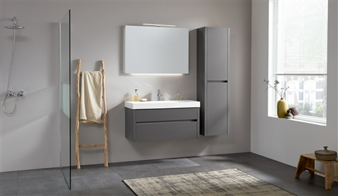 Badkamermeubel Met Kommen : Badkamermeubel beat cm met wastafel fresco en spiegel thin