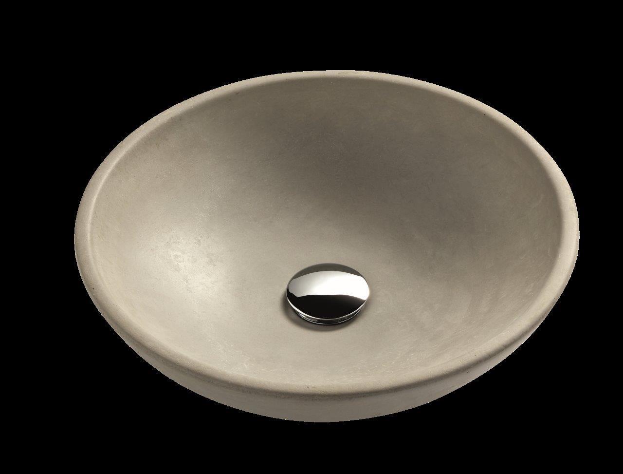 Ondiepe Wastafel Meubels : Ronde opzet wastafel beton round