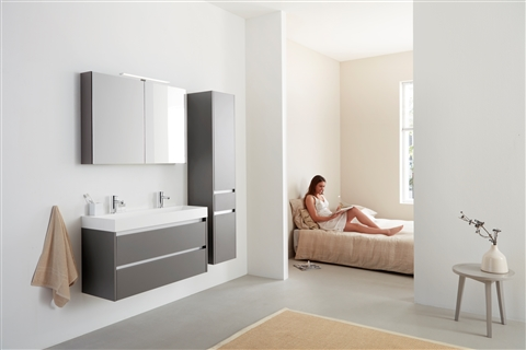 Badkamermeubel Met Kommen : Badkamermeubel beat cm met porseleinen wastafel fresco en