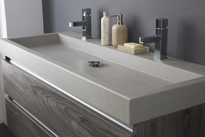 Wastafel 130 Cm : Badkamermeubel allure met wastafel beton