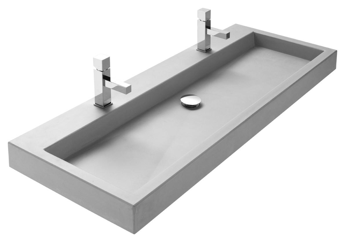 Wastafel 160 Cm : Wastafel met betonnen wasbak betonnen wasbak met houten